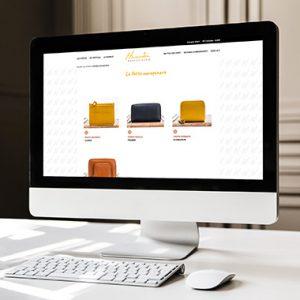 Niaouli maroquinerie web design