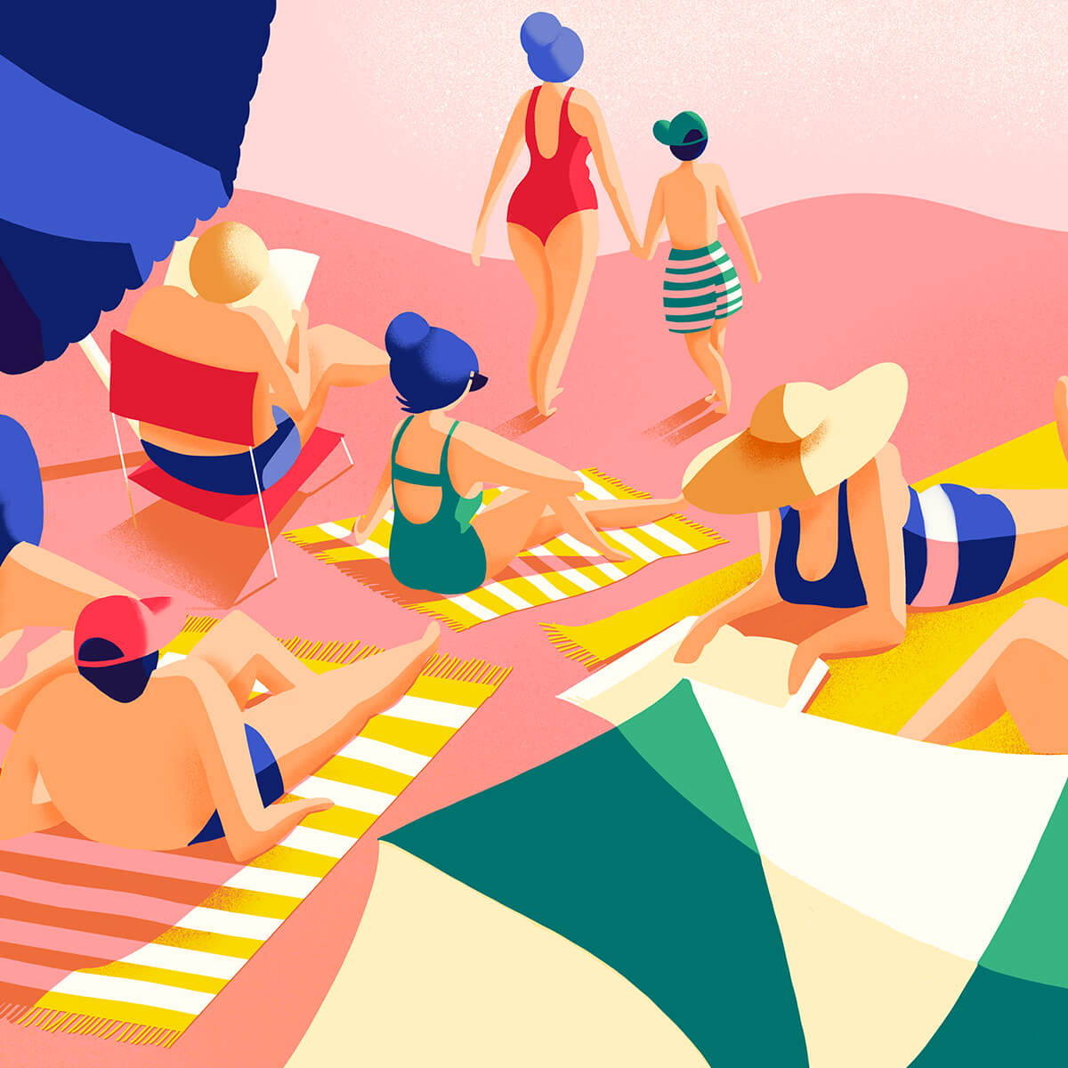Illustration la plage