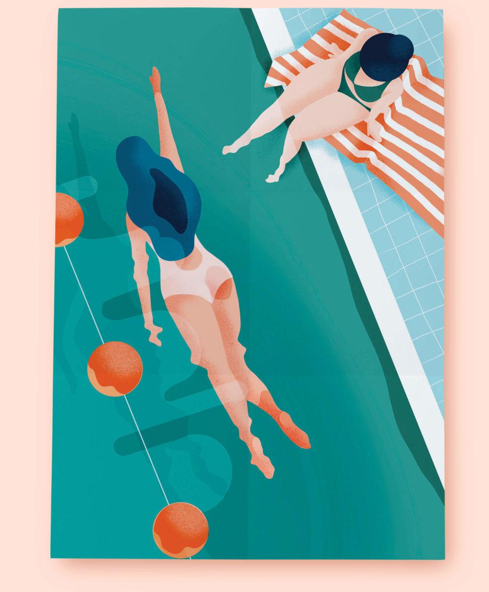 Affiche les nageuses