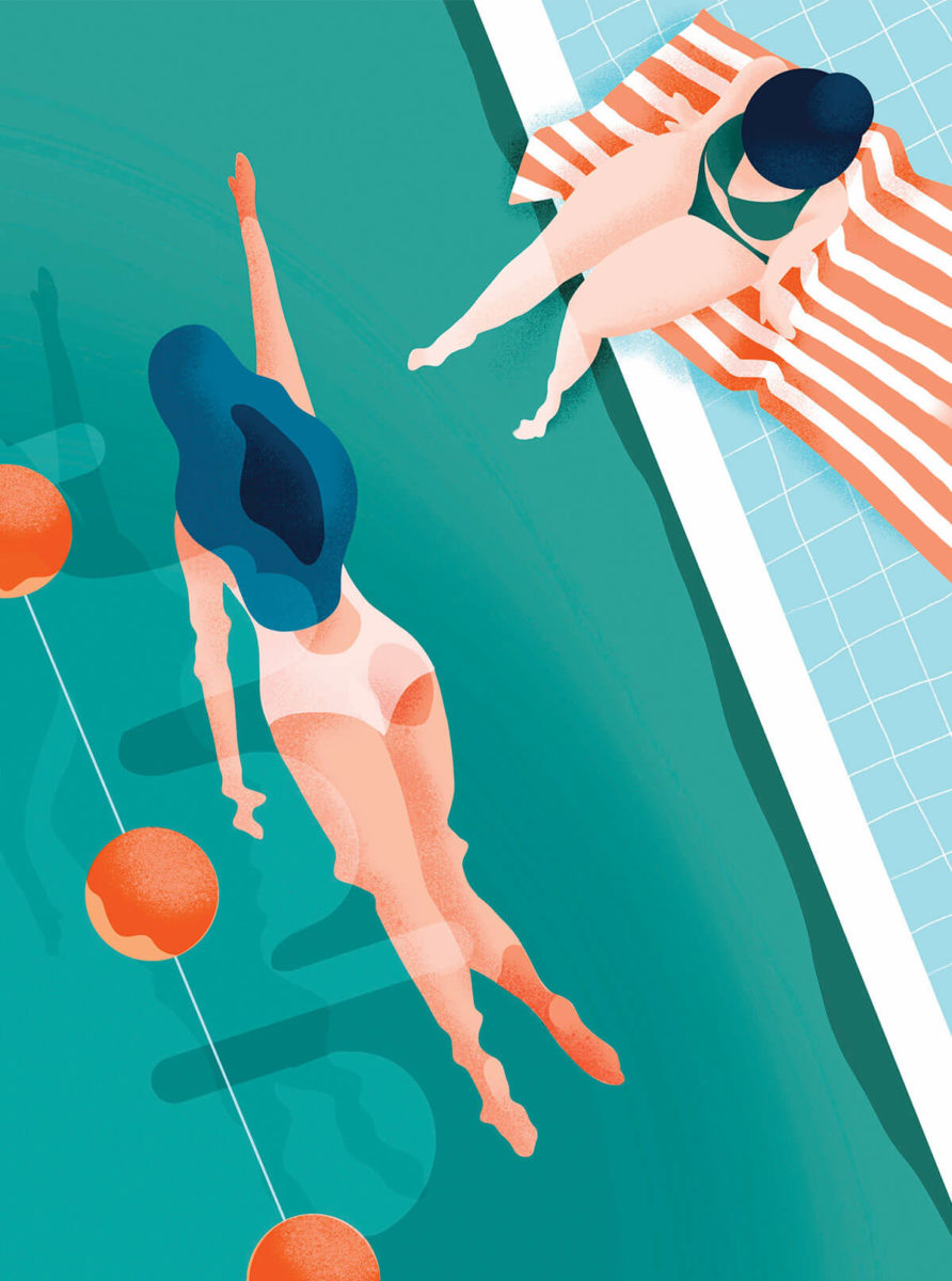 Illustration la piscine