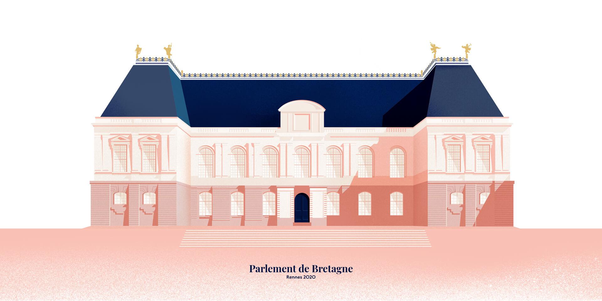 Illustration parlement de Bretagne