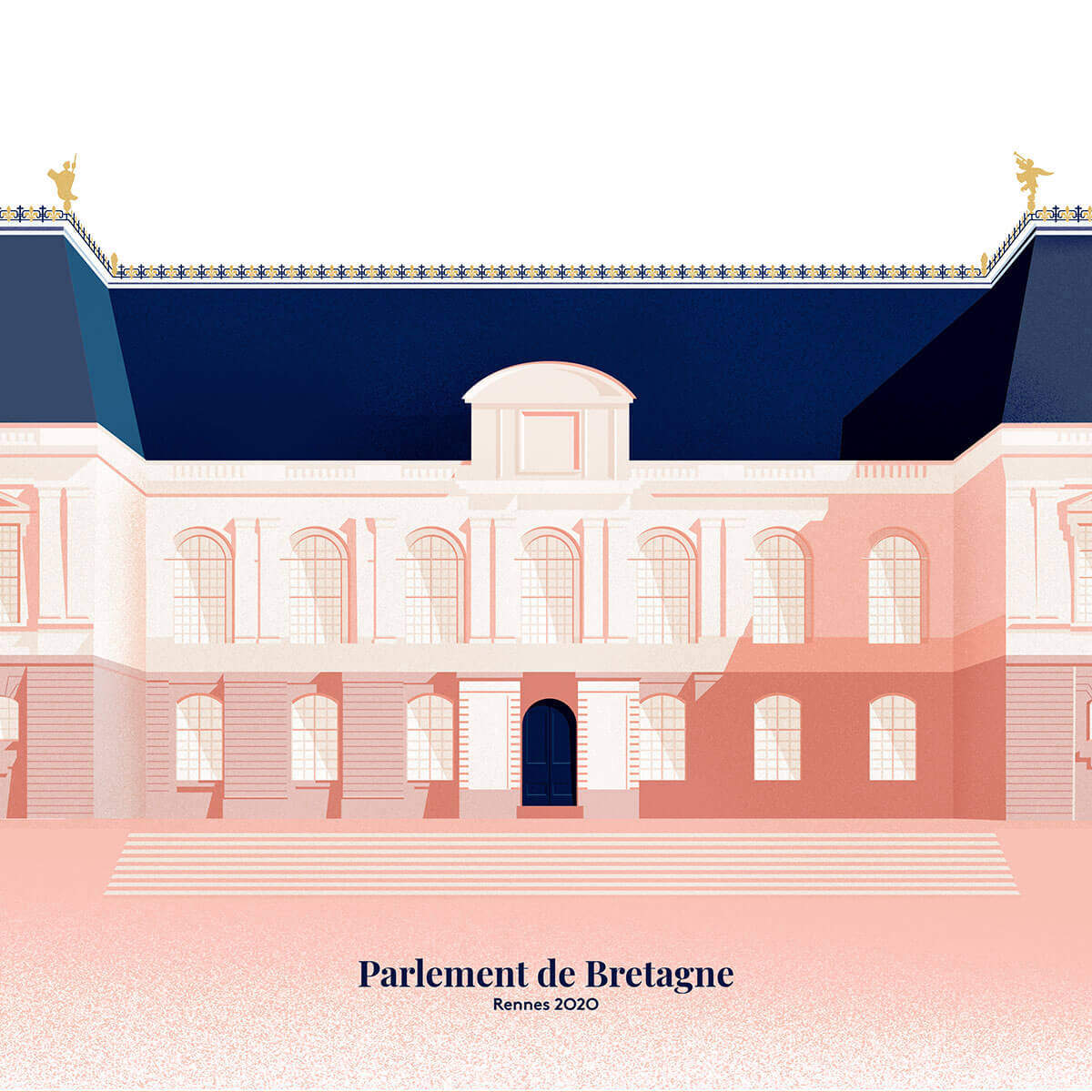 Illustration parlement de Bretagne